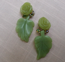 Merrillee's Jadite rose earrings